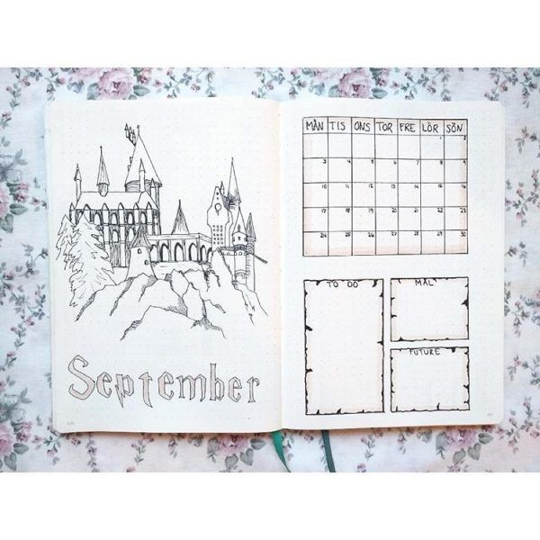 17 Harry Potter Bullet Journal Spreads That Are Magical - TheFab20s