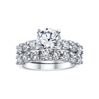Diamonart 4 Ct T W Cubic Zirconia Bridal Ring Set Jcpenney
