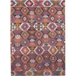 benuta Kurzflor Teppich mit Print Jelle Multicolor 200×290 cm – Moderner Bunter Teppich für Wohnzimm