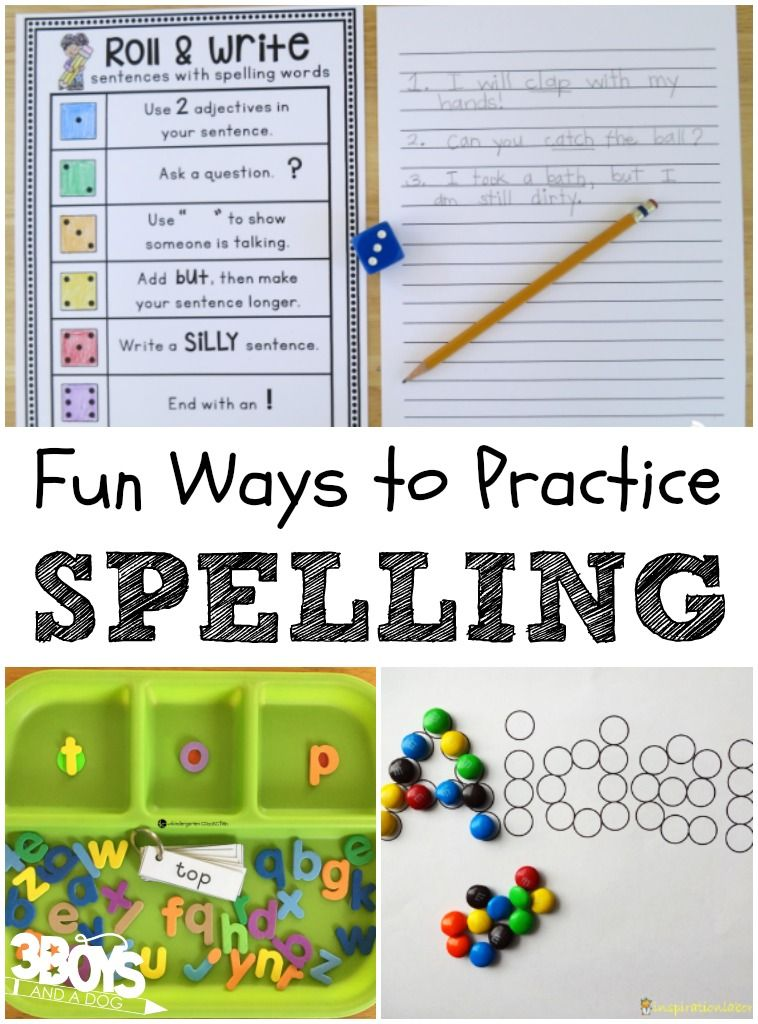 5+ Fun Ways to Practice Spelling | Kids learning ...