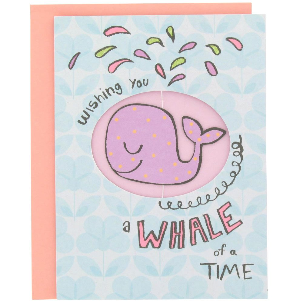 Paperchase whale birthday card Whale Pinterest – Paperchase Birthday Cards