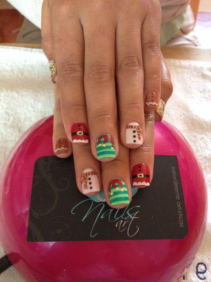 Más de 50 nuevas uñas decoradas de Navidad | Decoración de Uñas ...