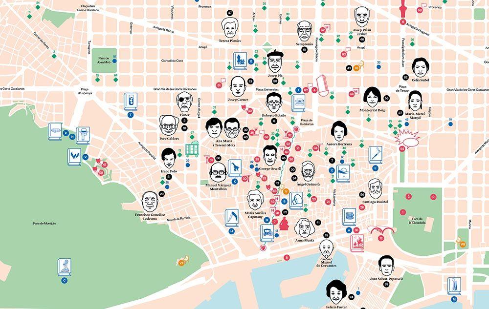 Un Mapa Literario De Barcelona Que Es Una Mina The Nbp