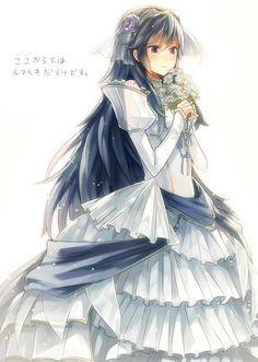 Lucina vestida de blanco