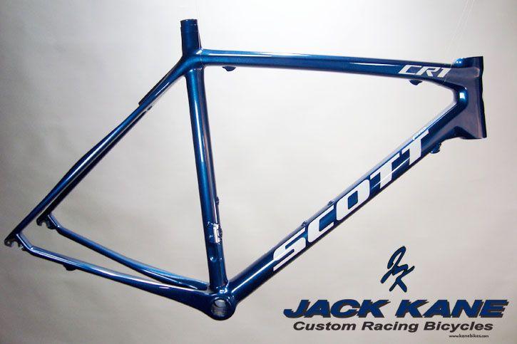 Scott CR1 in metallic blue with white lettering/logos. | Custom ...