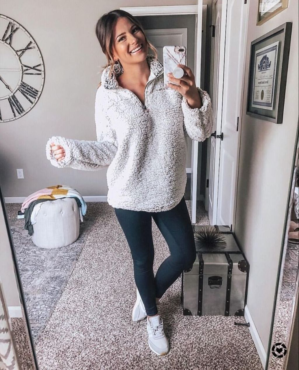 39 Cozy And Cute Winter Outfit With Legging #winteroutfits