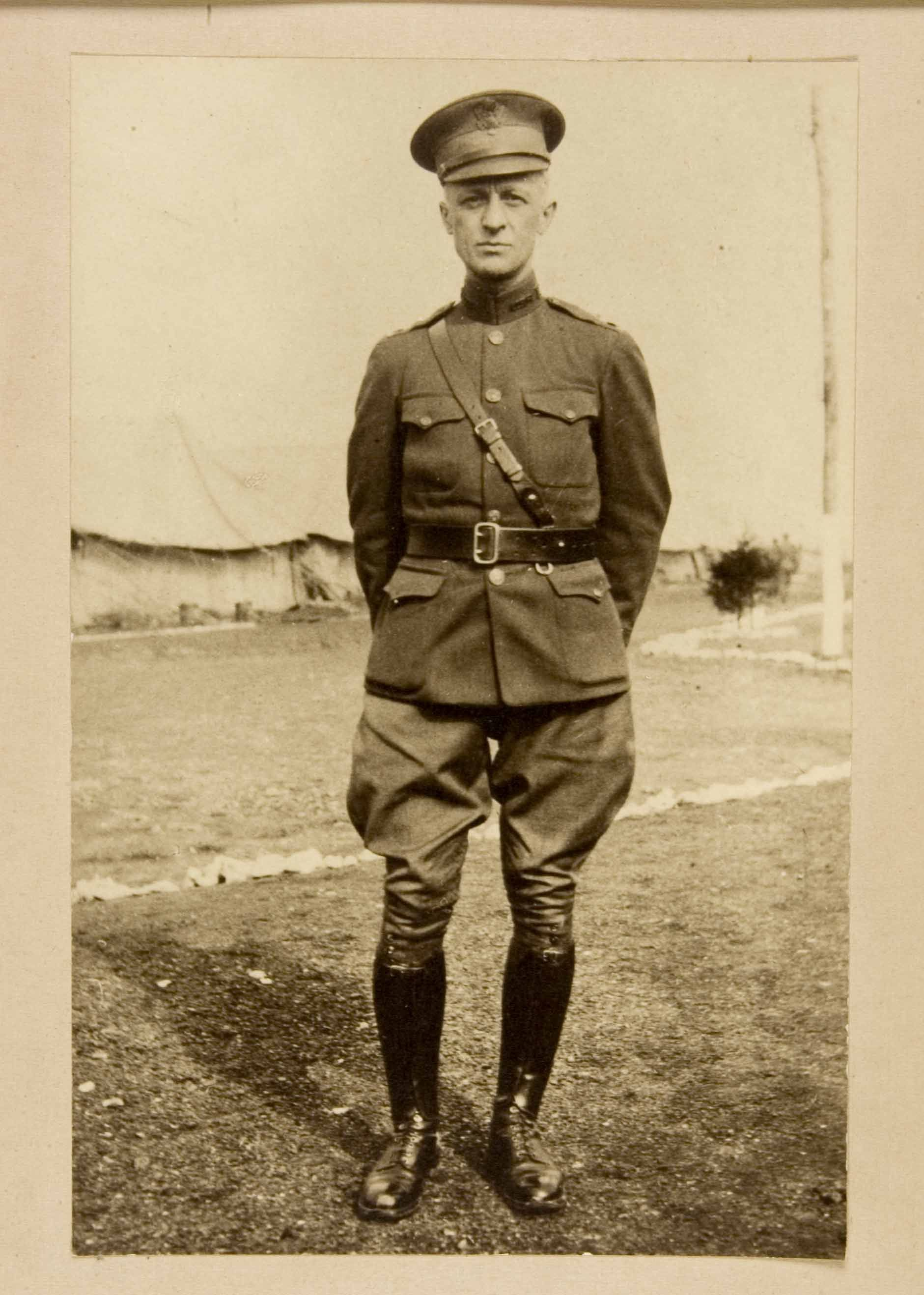 83e627dfb8a WWI American Uniform. This uniform was made strictly out of wool and  leather.
