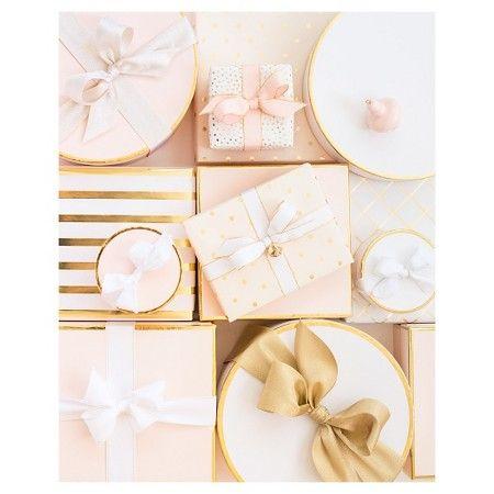 Sugar Paper® Blush Small Round Gift Box with Ribbon : Target ...