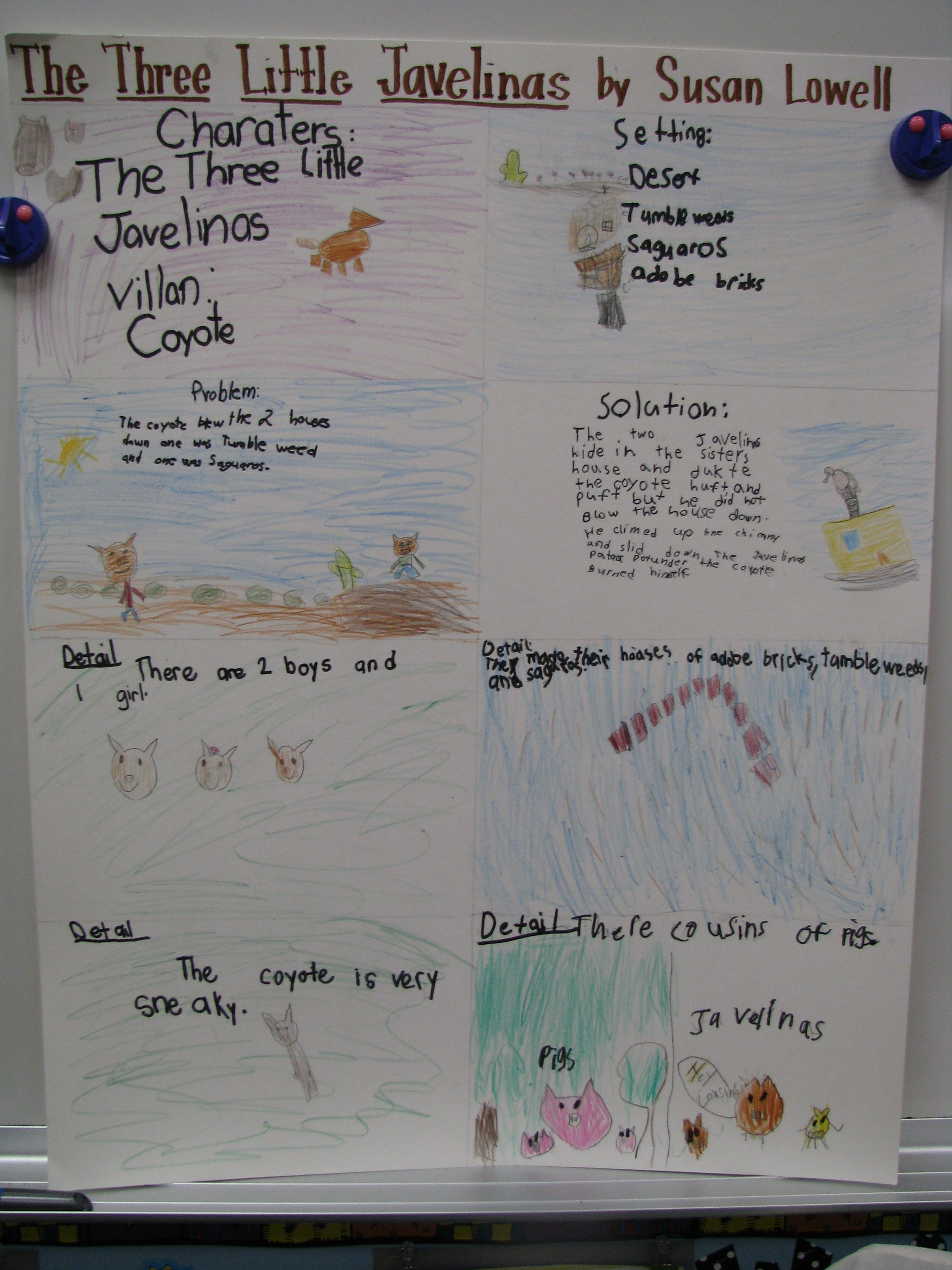 The Three Little Javelinas Collaborative Poster