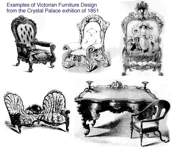 Examples Of Victorian Furniture From The 1851 Crystal Palace