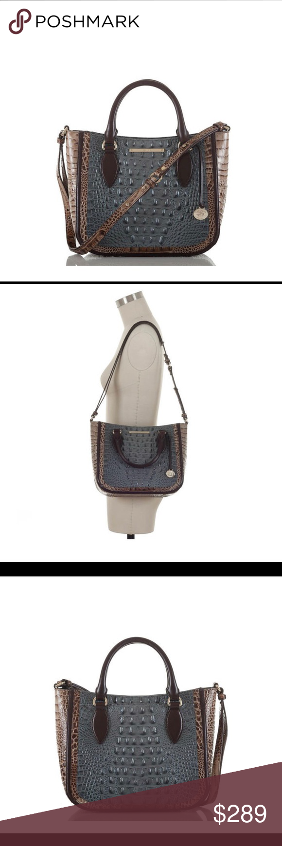 7906341d20 Brahmin Small Lena Satchel Mallard Davos The Small Lena Satchel is a great  style for everyday