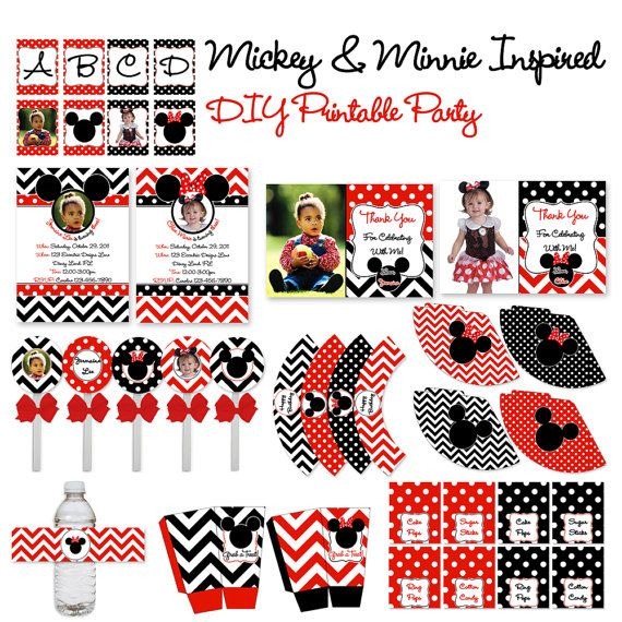 Minnie Mickey OR Minnie Party In A Box  by EccentricDesignsbyLH, $75.00
