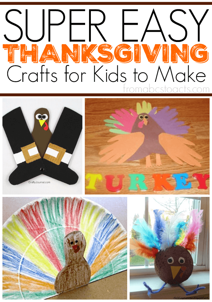 Super Easy Thanksgiving Crafts For Kids On Mom S Library