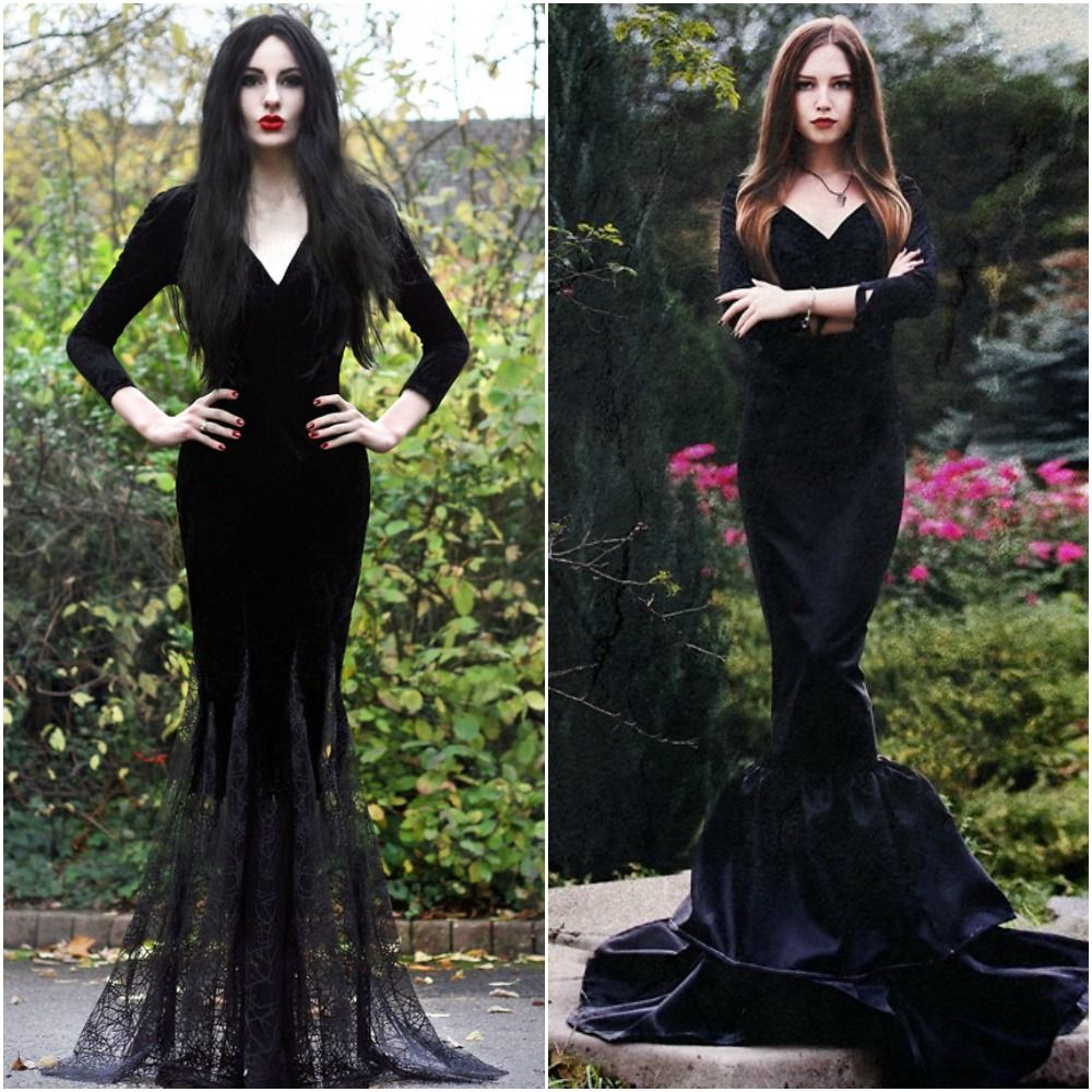 morticia addams adams family costume ideas fancy dress halloween 2014 i love this idea. Black Bedroom Furniture Sets. Home Design Ideas