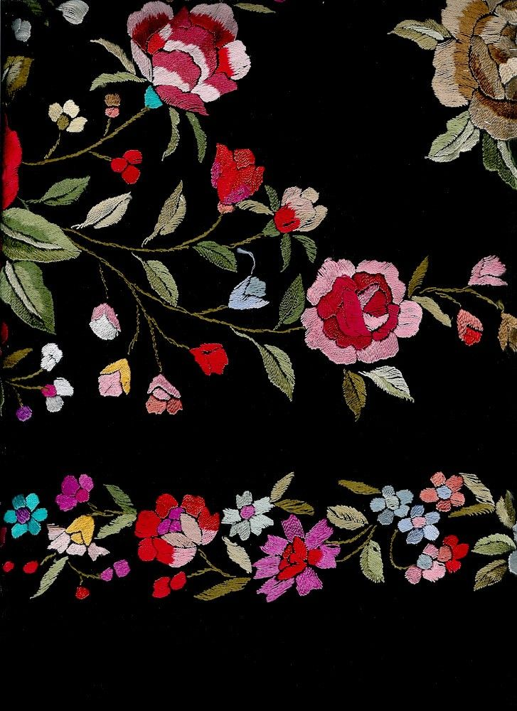 flores para bordar en mantones - Buscar con Google