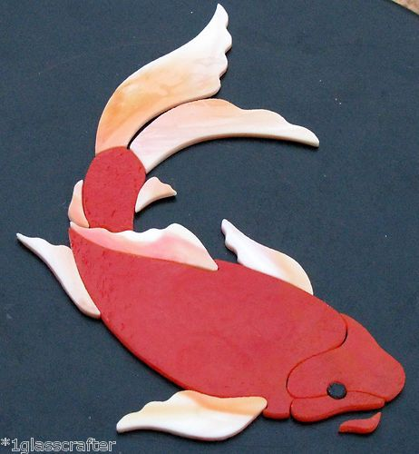 Butterfly koi fish stained glass precut kit great for for Koi fish for sell