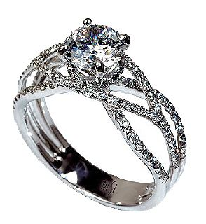 this is THE one !     MARK SILVERSTEIN 18KW DIAMOND RING - 2037-18K