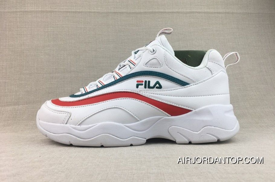 Shop Fila X Folder Ray Dad Sneakers Green Red Best Price 109 03 Air Jordan Shoes New Arrivals 2018 Running Shoes For Men Nike Shoes Women Dad Sneakers