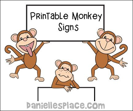photo about Printable Monkeys named Printable Monkey Indicators for Monke Bulletin Board Shows