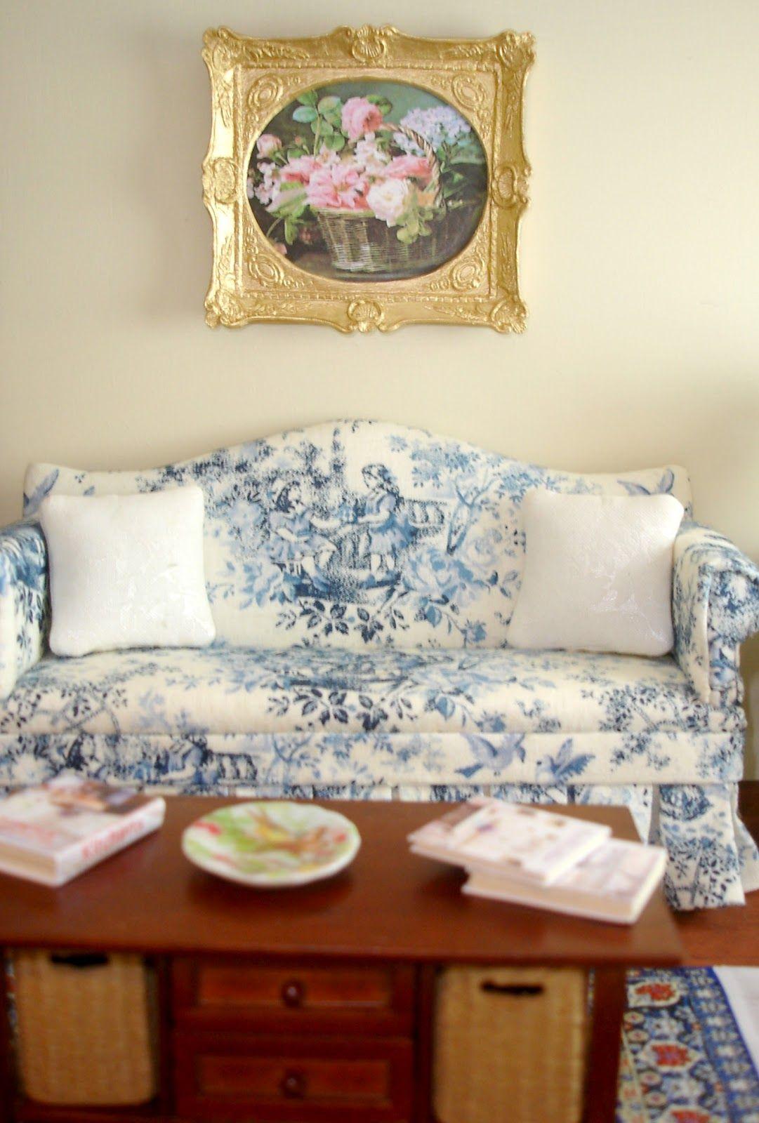 Peach Blossom Hill Toile de Jouy   Life in Miniature   Pinterest ...
