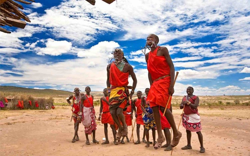Although The Maasai People Only Constitute Of The - Maasai tribe wild animals attend wedding kenya