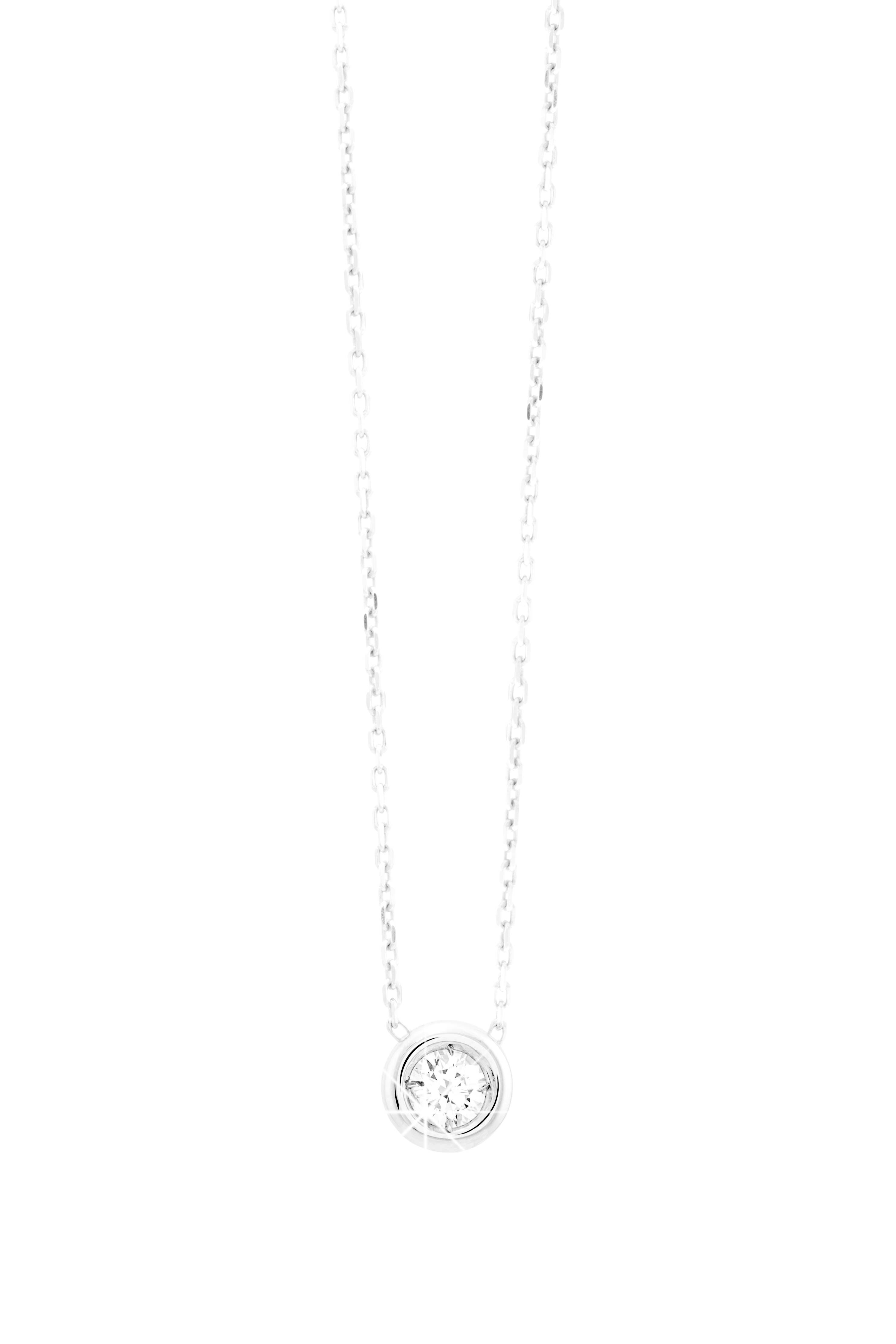 13a0a1c0862d8 Collier en argent massif et oxyde de zirconium  collier  mode  diamantor   bijoux