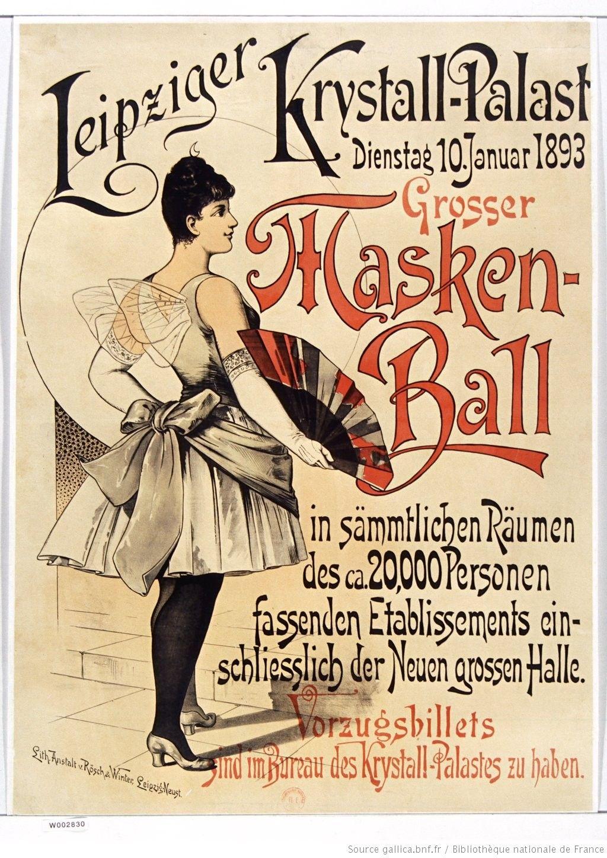 Leipziger Krystall-Palast... Grosser Masken Ball... : [affiche] / [non identifié]
