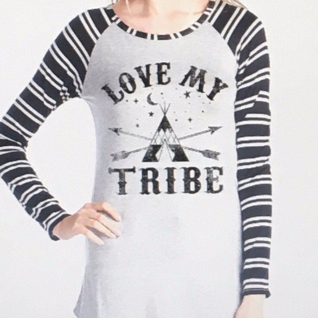 Women's Striped Long Sleeve Teepee Shirt