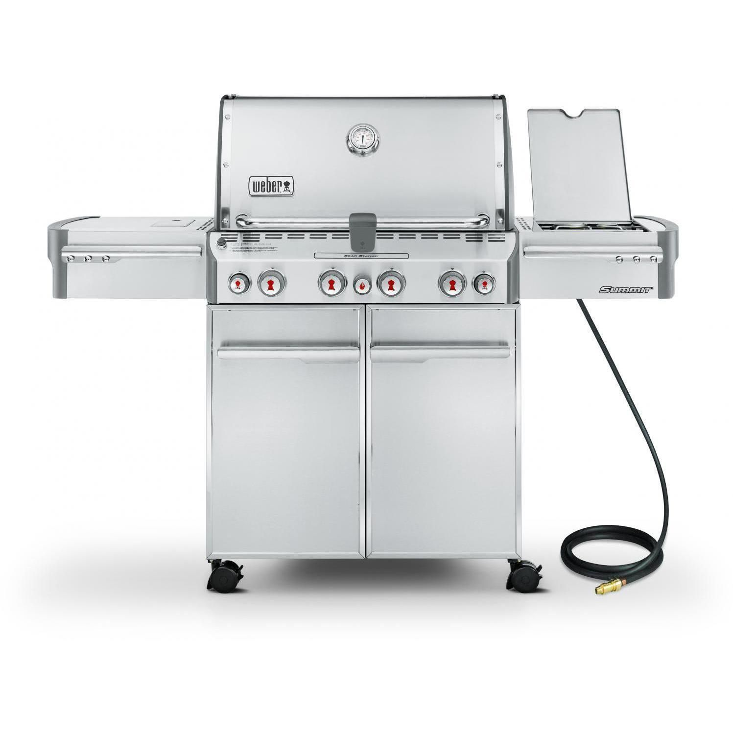 Weber Summit S 470 Natural Gas Grill With Rotisserie Sear Burner Side Burner 7270001 Bbqguys Natural Gas Grill Gas Grill Grilling