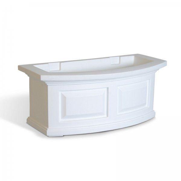 "Nantucket 2 Foot Window Box (White) (10""H x 24""W x 11.5""D)"