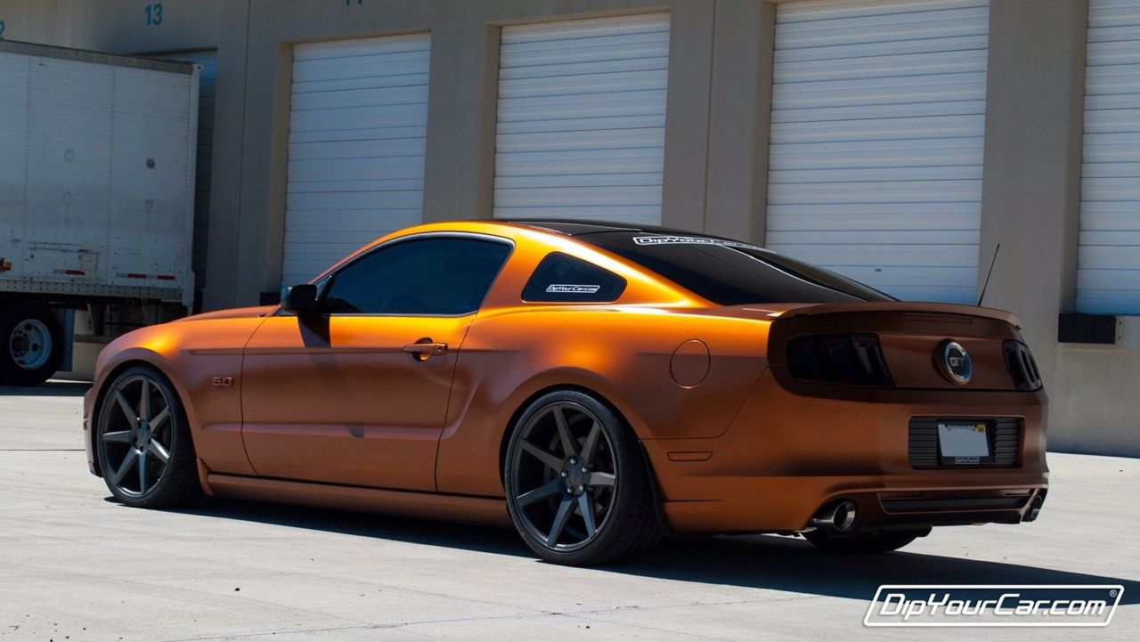 Burnt Copper Pearl Dipped 5 0 Mustangs Dips Car
