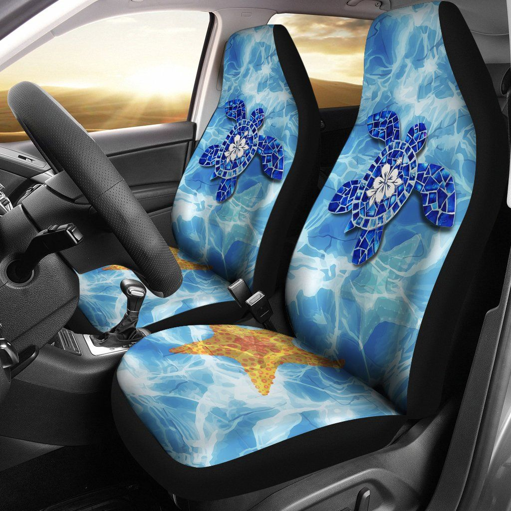Turtle Hawaiian Car Seat Covers - Set of 2 - Universal Fit - 02 H9