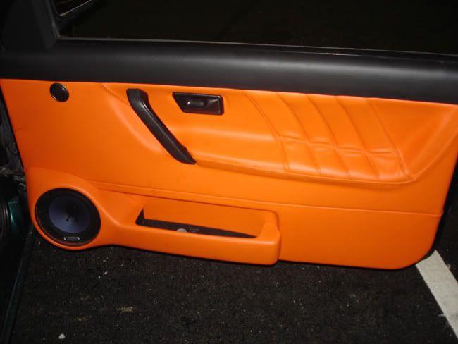 Mk2 Brightly Coloured Leather Seats Orange Leather Interior Seats Door Panels Golf Mk2 Volkswagen Golf Mk2 Leather Interior