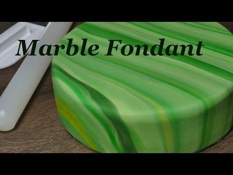 Marmorierter Fondant Die 3 Verschiedenen Techniken Um Marmoreffekt