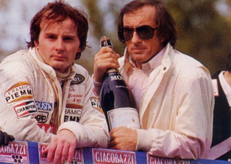 with Jackie Stewart(Imola,82)