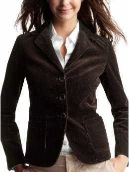 Black corduroy blazer | Blazers/Jackets/ Ponchos | Pinterest ...