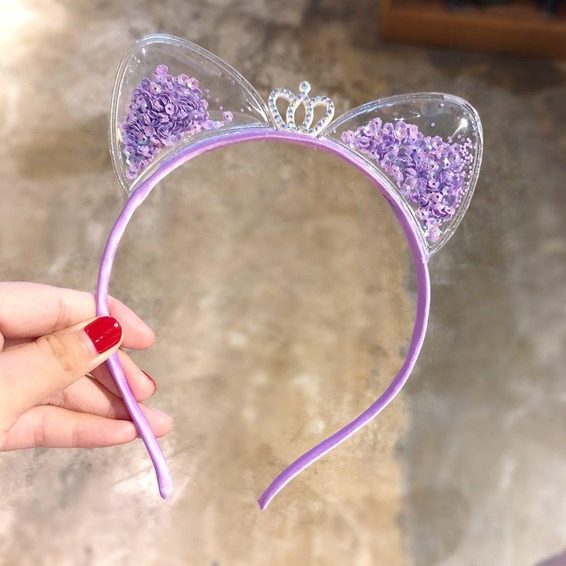 Cute Cat Ears Headband Baby Girls Hairbands Princess Kids Hair Accessories #kidshairaccessories #babyhairaccessories #babyhairband #kidshairaccessories
