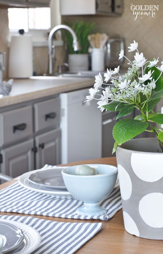 casual fresh spring kitchen