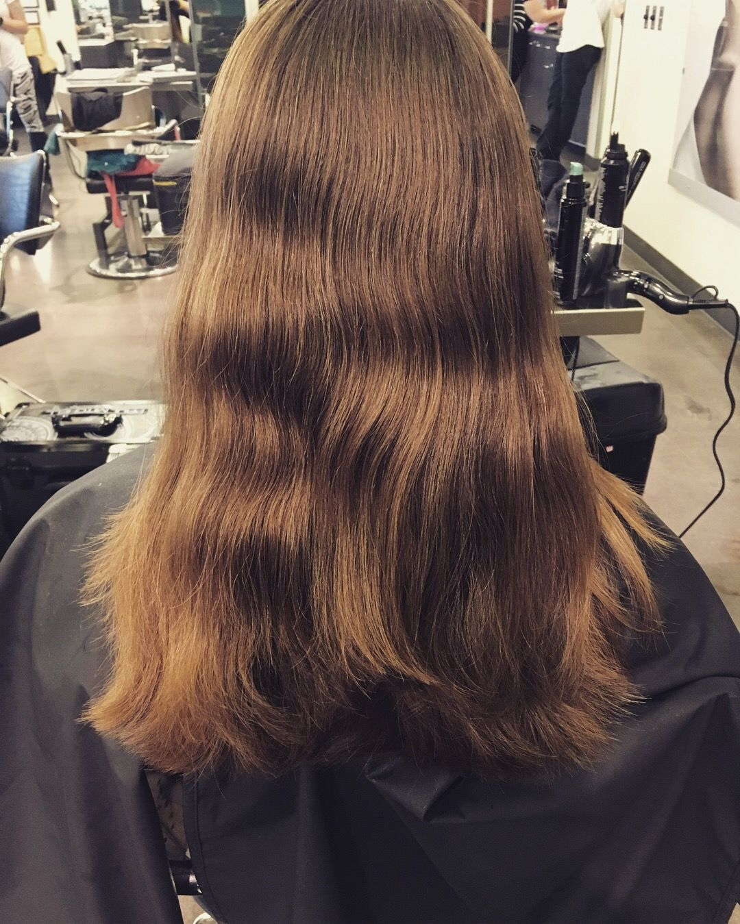 After One Length Haircut With Round Layers Done By Chloe Kruse