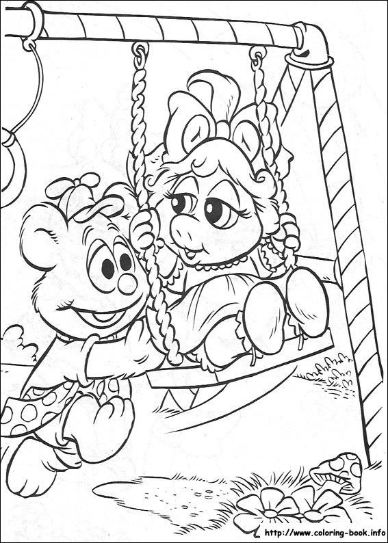 Muppet Babies Coloring Picture Baby Coloring Pages Mermaid Coloring Pages Disney Coloring Pages