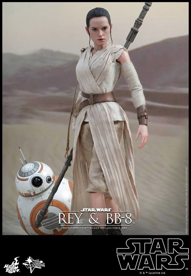 Ready Hot Toys MMS337 Star Wars EP VII The Force Awakens 1//6 Rey and BB-8 set