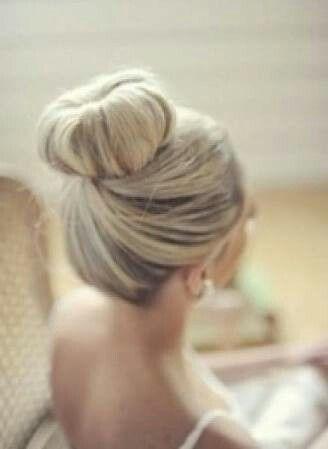 High Neat Bun Hair Styles Perfect Hair Bridesmaid Hair