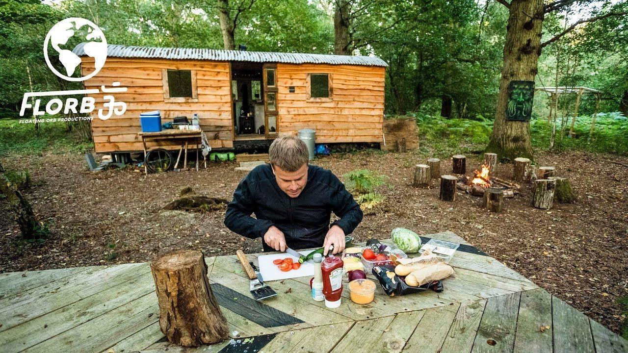 Dave erasmuss off grid woodland camp woodlands camping