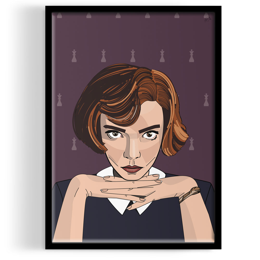 Photo of Inspired by Queen's Gambit Portrait ART PRINT – A4 Art Print