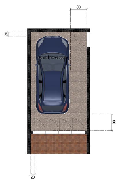 Ukuran Minimal Garasi Mobil Mobil Garasi Kendaraan