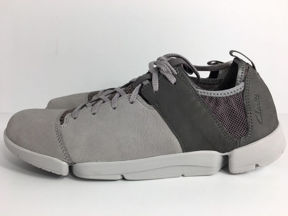 Clarks trigenic womens tri active gray leather lace up