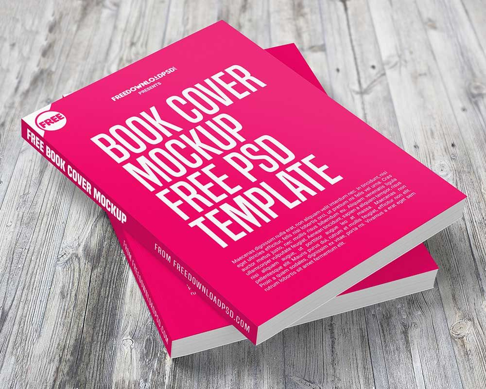 free psd book cover design templates