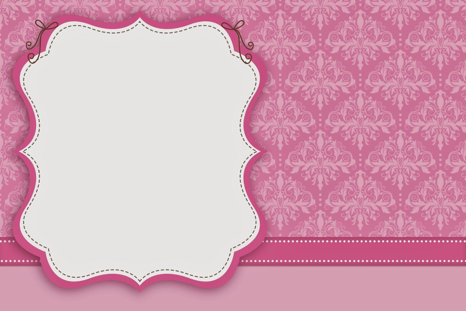 Damascos Rosa: Invitaciones para Imprimir Gratis. | Tarjetas ...