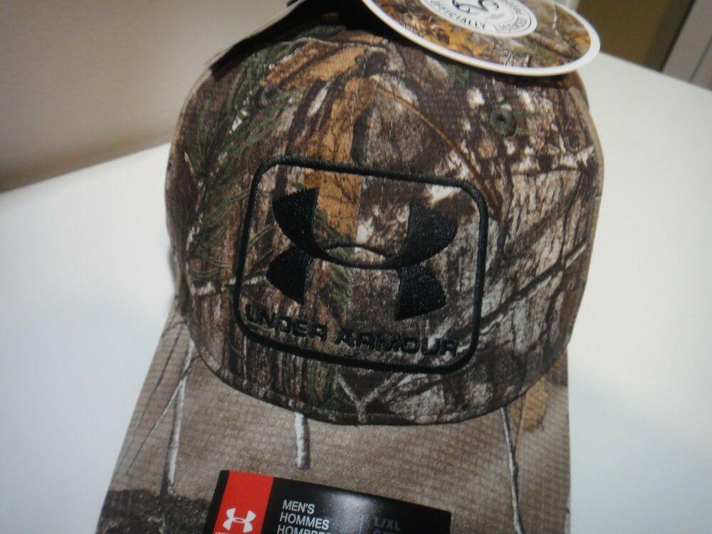da181d40567 Under Armour Realtree Xtra Mens Heatgear Free Fit Camo Hat Size LG   XL   Underarmour