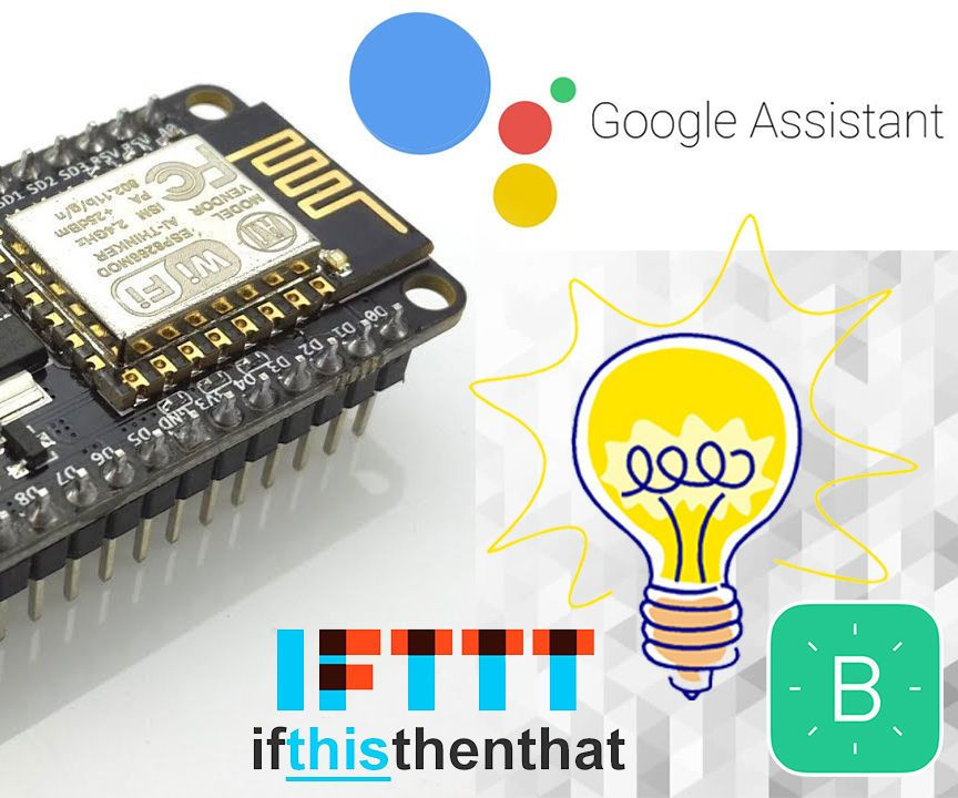 GOOGLE ASSISTANT CONTROLLED SWITCH USING NODEMCU Proyectos